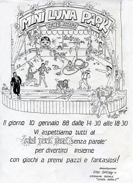 Volantino di Mini Luna Park 1988