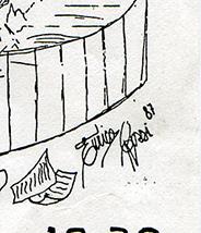 Firma da caricatura di Enrico Rossi 87