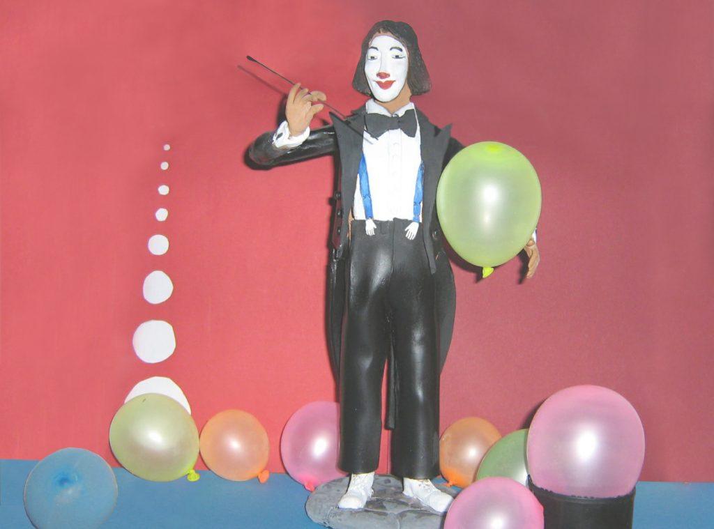Statuetta di Eddy con palloncini